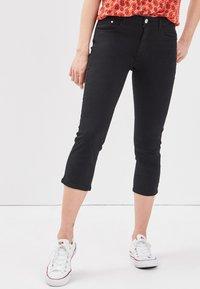 Cache Cache - SCHLANKE EINFARBIGE BASIC-HOSE - Trousers - black - 0