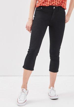 SCHLANKE EINFARBIGE BASIC-HOSE - Pantalones - black