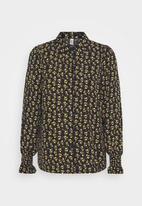 ONLY - ONLJESS SMOCK TOP  - Button-down blouse - black/yellow - 3