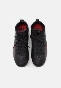Nike Performance - MERCURIAL JR 7 ACADEMY SG UNISEX - Screw-in stud football boots - black/dark smoke grey - 3
