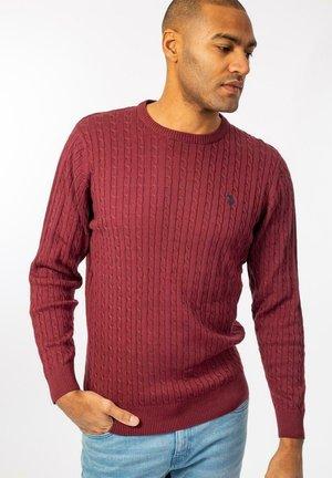 Sweter - tawny port