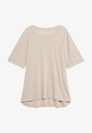 OPI - T-shirt basique - šedobílá