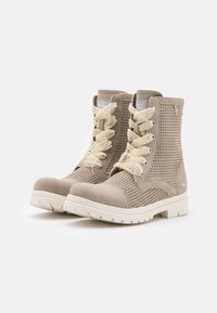 Mustang - Lace-up ankle boots - beige - 1
