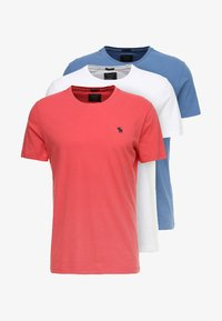 Abercrombie & Fitch - 3 PACK - Basic T-shirt - red - 5