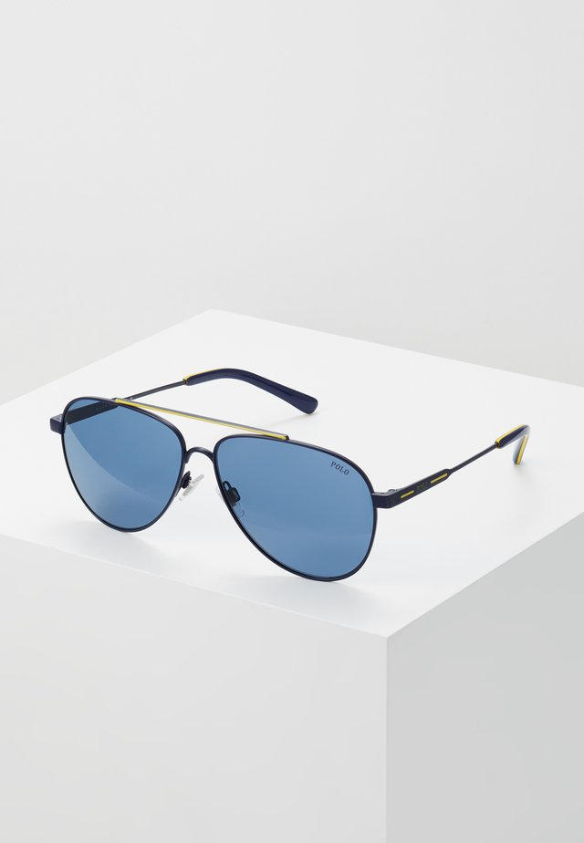 Sonnenbrille - navy blue/yellow