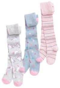 Next - MULTI 3 PACK UNICORN TIGHTS - Ponožky - pink - 0