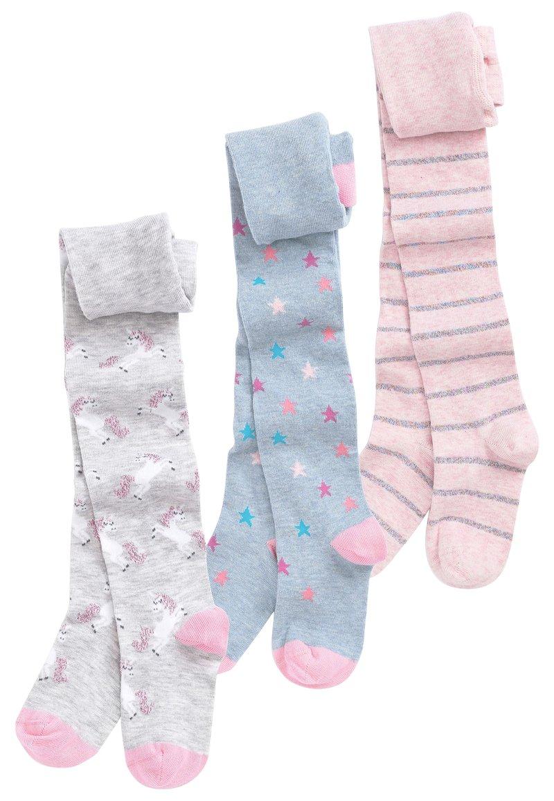 Next - MULTI 3 PACK UNICORN TIGHTS - Ponožky - pink