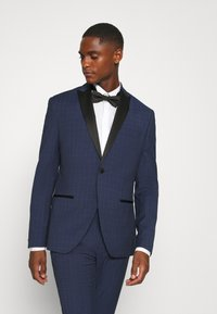 Isaac Dewhirst - CHECK TUX - Garnitur - dark blue - 2