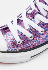 Converse - CHUCK TAYLOR ALL STAR COATED GLITTER - High-top trainers - bold pink/white/black - 5