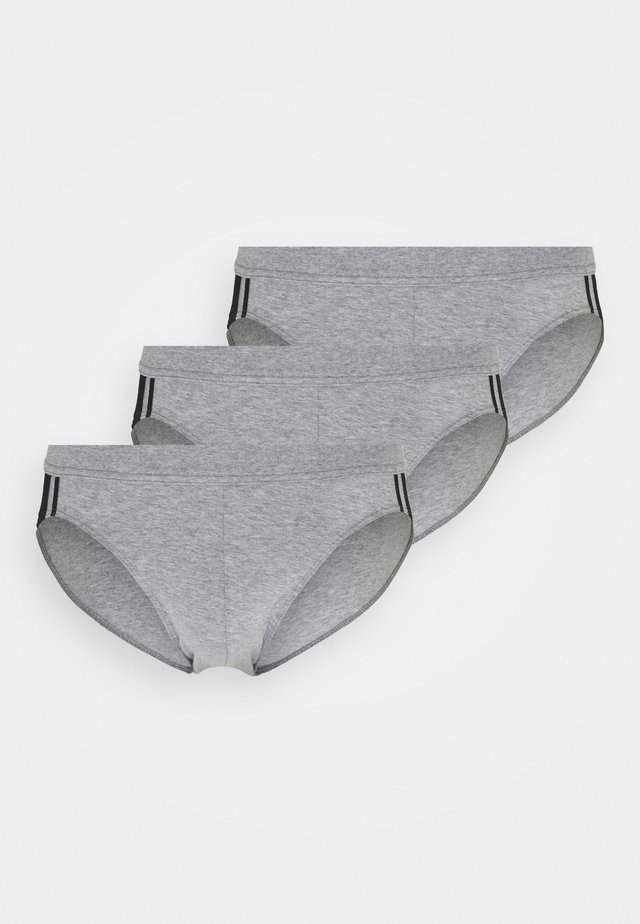 3PACK Slip Organic Cotton Softbund - 95/5 Stretch - Slip - grau