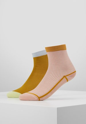 GRACE ANKLE SOCK 2 PACK - Socks - ochre