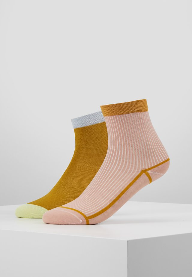 GRACE ANKLE SOCK 2 PACK - Skarpety - ochre