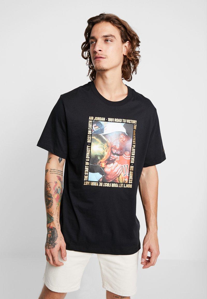 Jordan - CREW - Print T-shirt - black