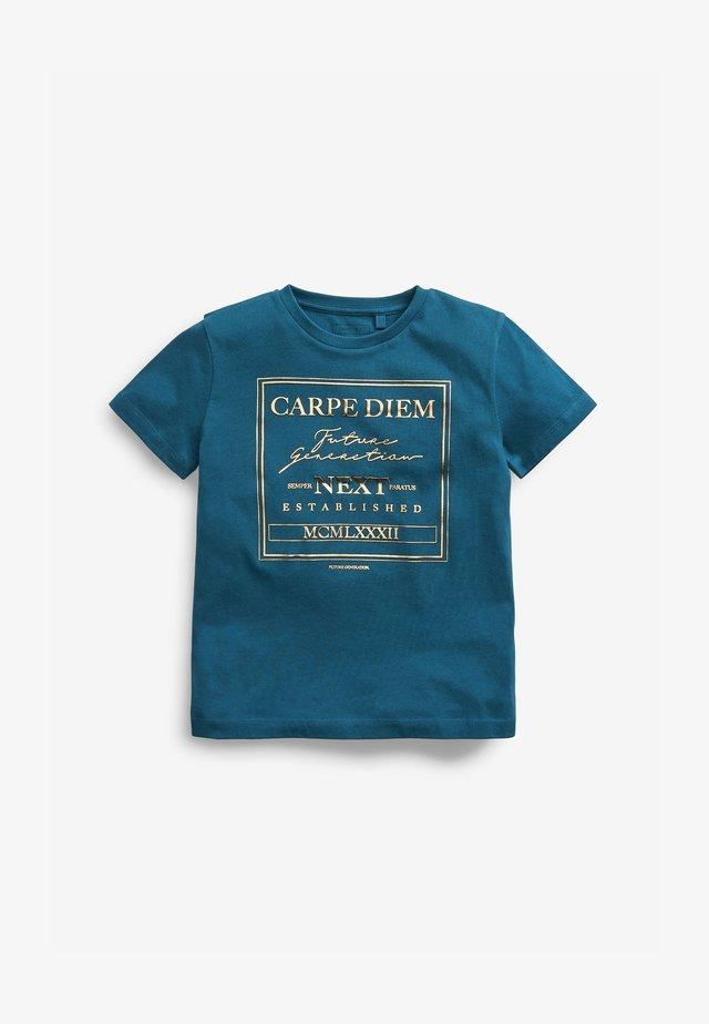 HERITAGE GRAPHIC - Camiseta estampada - teal