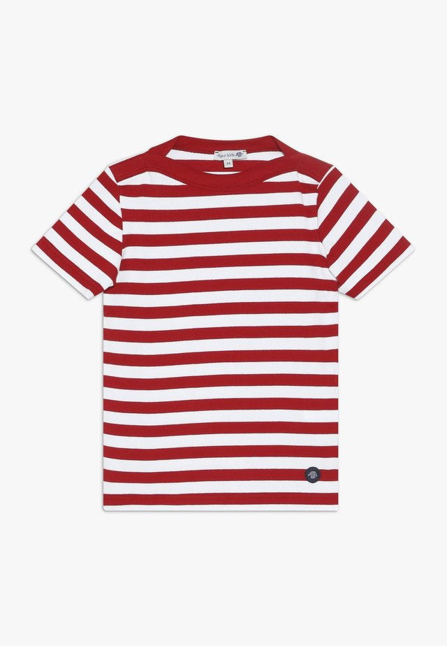 MARINIÈRE CARANTEC KIDS - T-shirt con stampa - braise/blanc