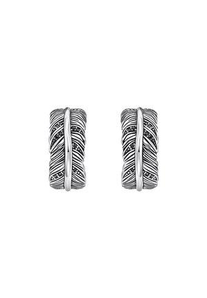 CREOLEN 925 STERLINGSILBER, GESCHWÄRZT - Earrings - schwarz, silberfarben