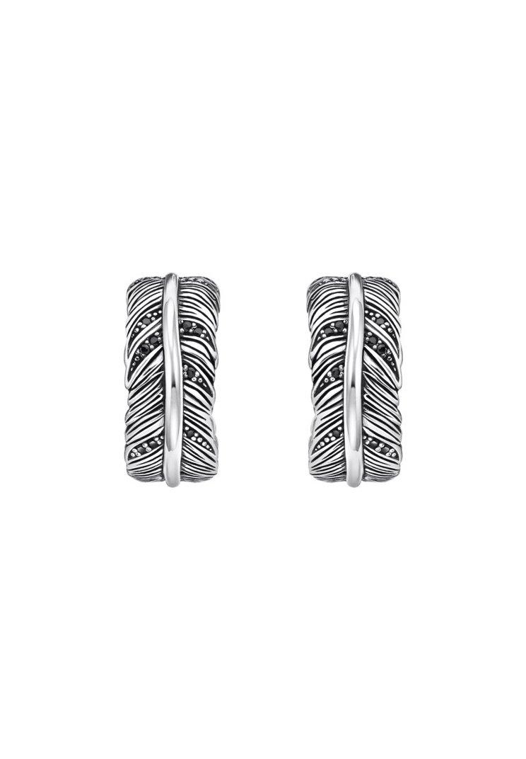 THOMAS SABO - CREOLEN 925 STERLINGSILBER, GESCHWÄRZT - Earrings - schwarz, silberfarben