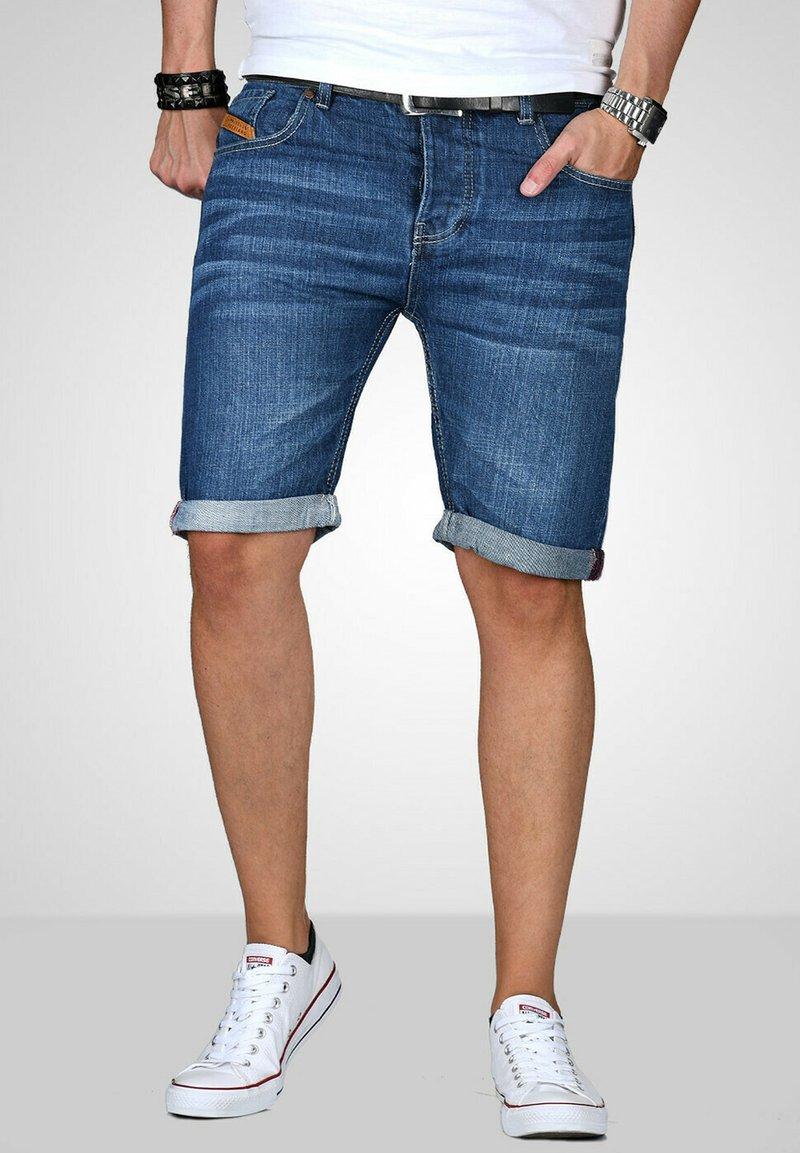 Maurelio Modriano - Denim shorts - mittelblau