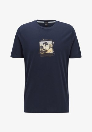 TMIX - Print T-shirt - Royal Blue
