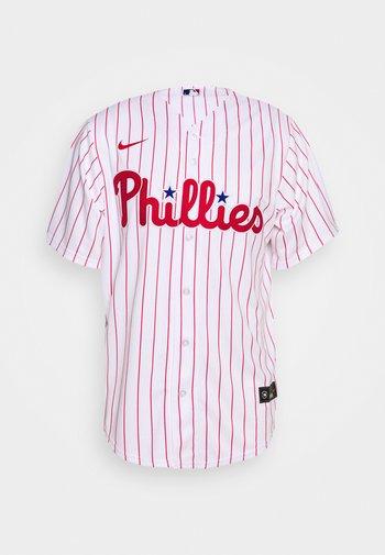 MLB PHILADELPHIA PHILLIES OFFICIAL REPLICA HOME - Klubbkläder - white/scarlet