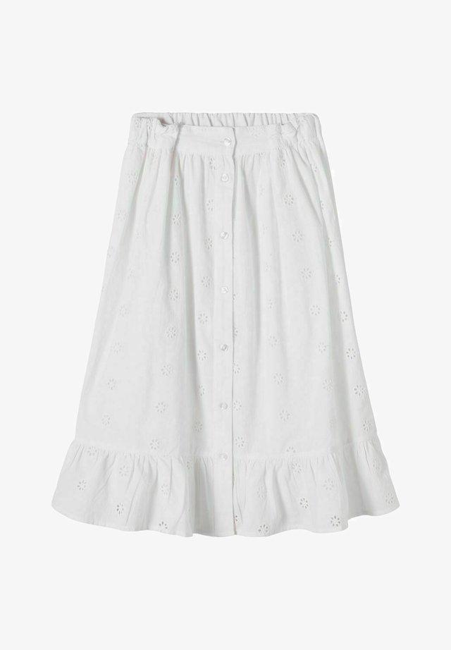 A-linjekjol - bright white