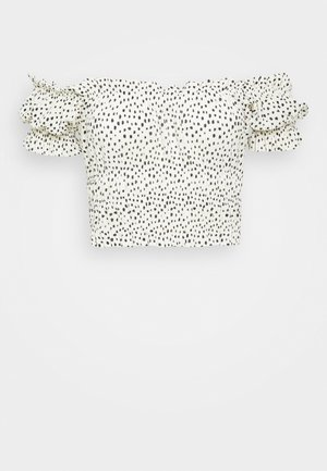 ELISIA OFF SHOULDER - Bluser - white