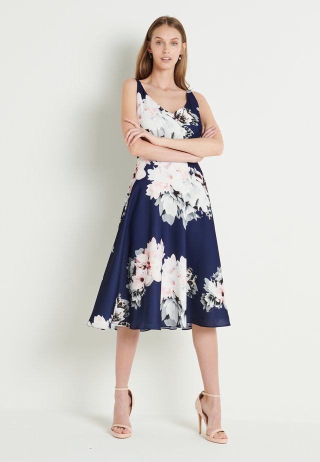 Day dress - schwarzblau bunt