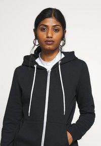 Even&Odd Petite - Zip-up hoodie - black - 3