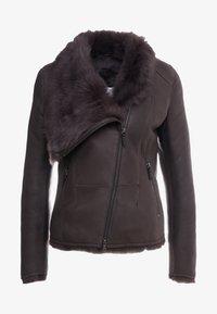 VSP - SHORT JACKET - Leather jacket - toscana dark mist - 5
