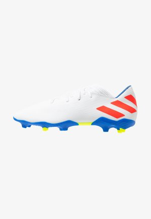 NEMEZIZ MESSI 19.3 FG - Kopačky lisovky - footwear white/solid red/football blue