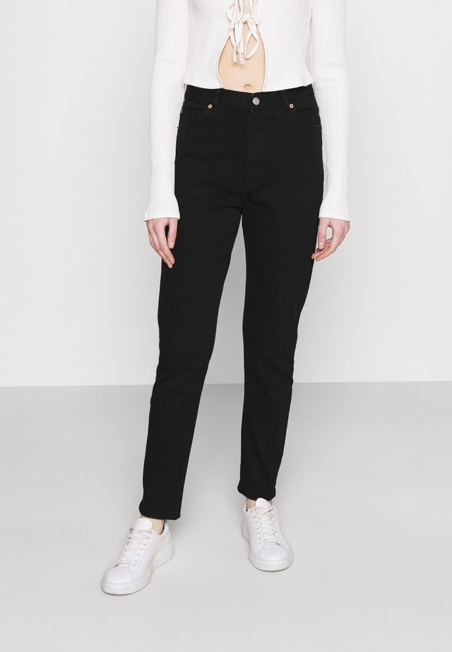 NORA STRETCH - Džíny Straight Fit - washed black