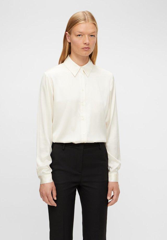 MALLORY SILK - Button-down blouse - off white