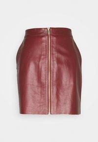 DAY Birger et Mikkelsen - DAY TODAY - Leather skirt - fired brick - 0