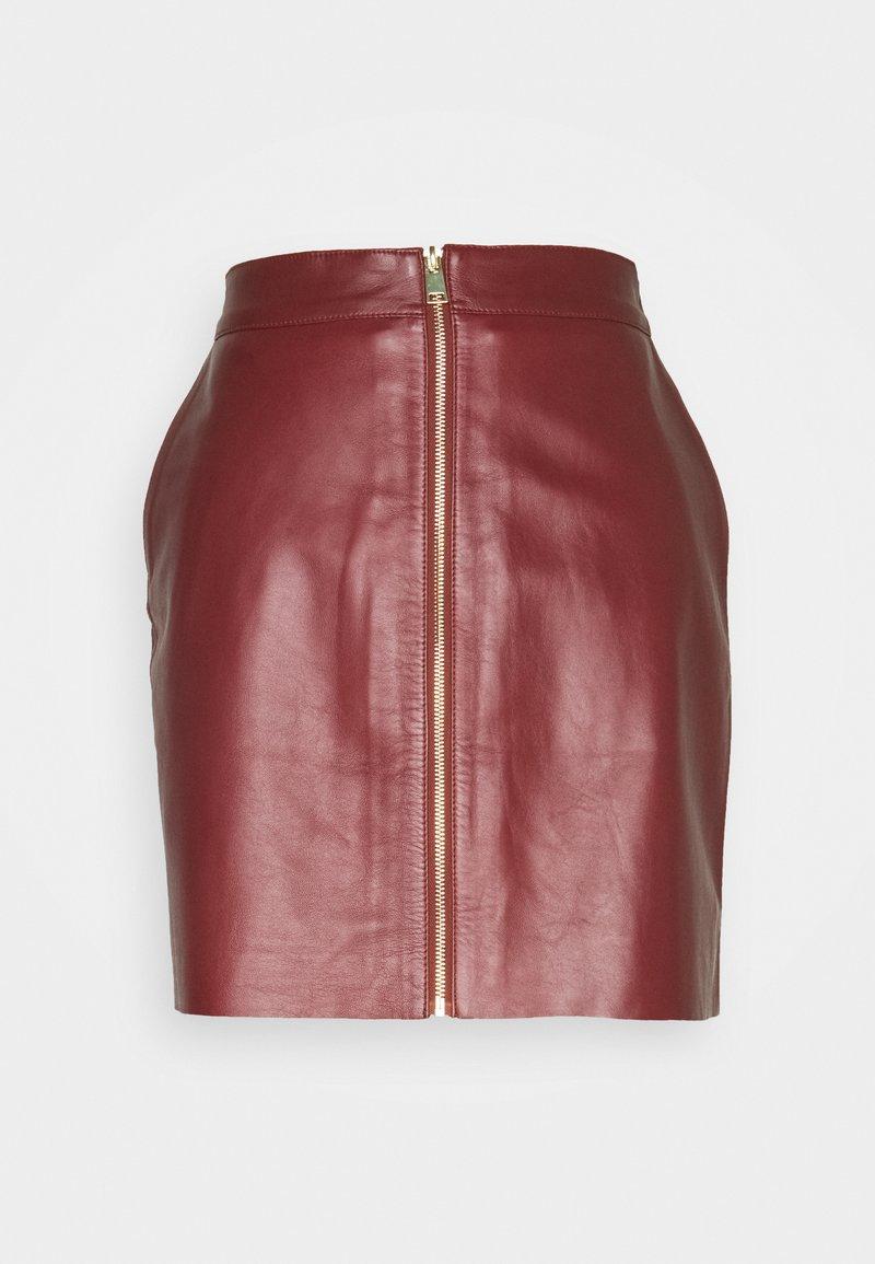 DAY Birger et Mikkelsen - DAY TODAY - Leather skirt - fired brick