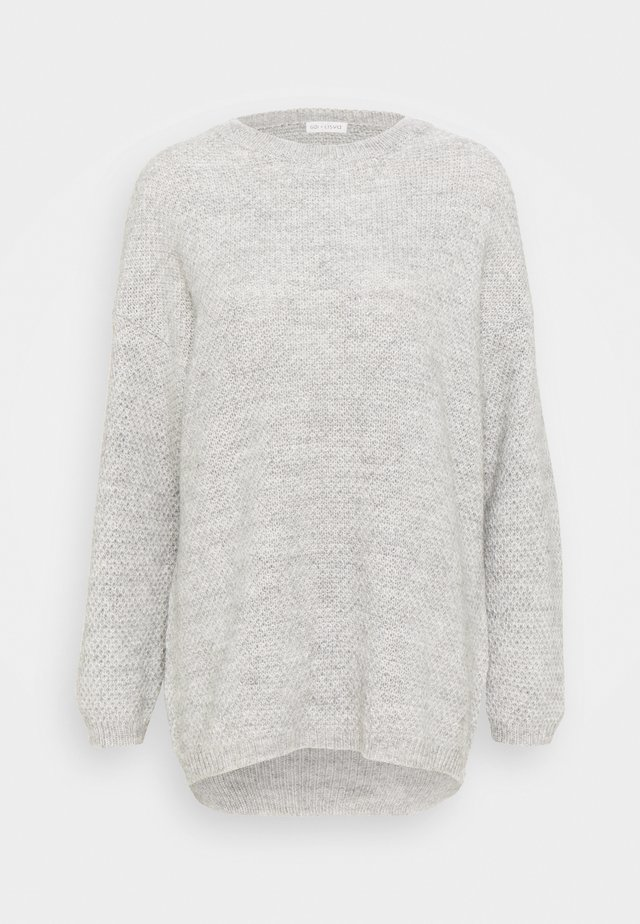 MARTINA - Strikpullover /Striktrøjer - light grey melange