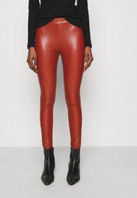 TOM TAILOR DENIM - Leggings - Trousers - rust orange - 0