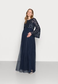 Maya Deluxe Maternity - FLORAL EMBELLISHED BELL SLEEVE MAXI - Occasion wear - navy - 1
