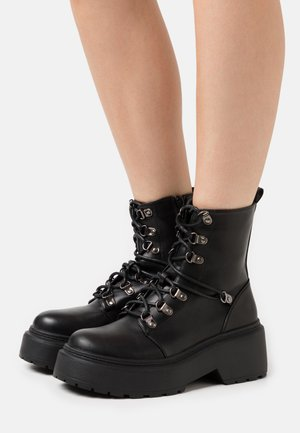 JACKSON - Bottines à lacets - black