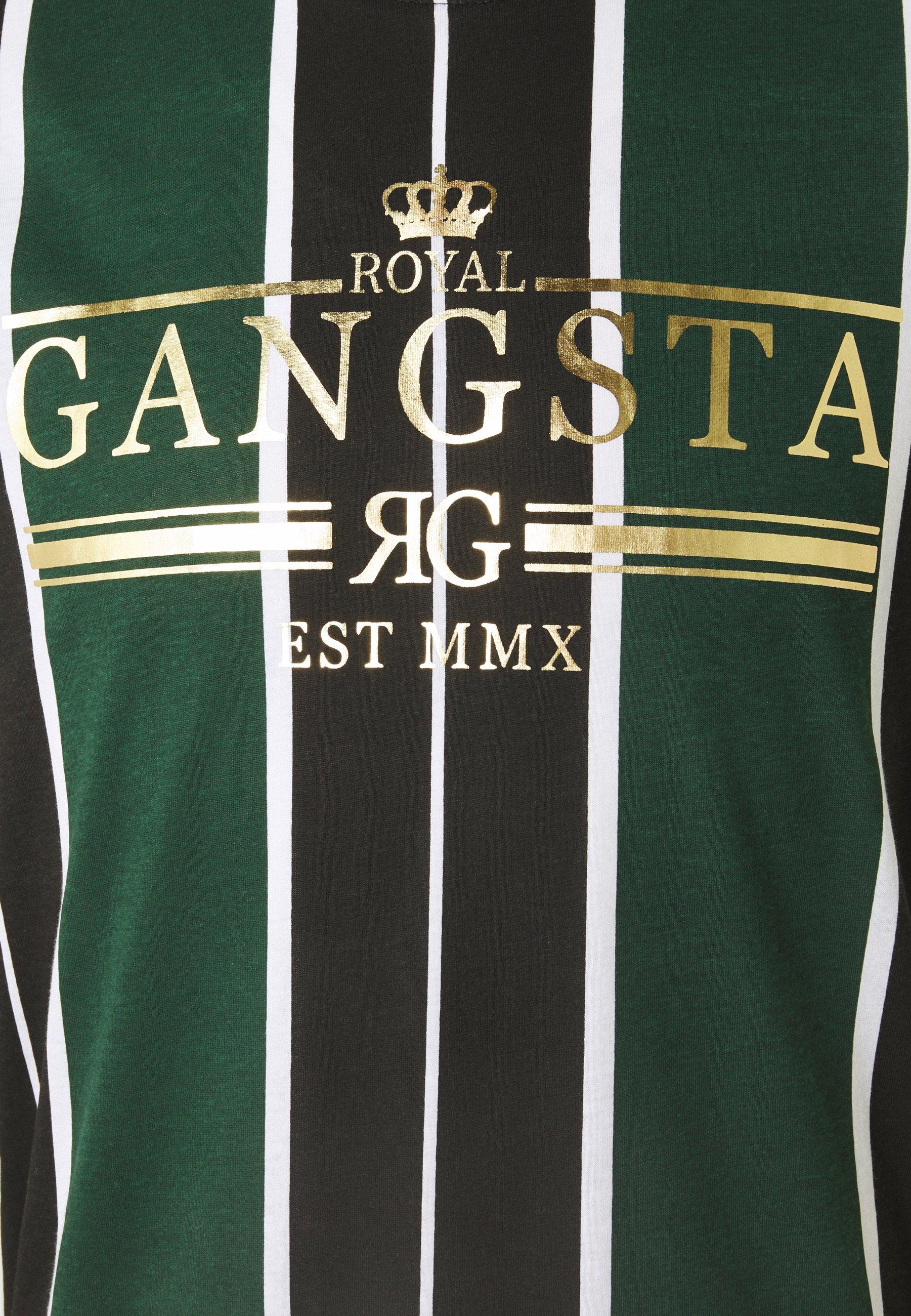 Brave Soul ROCKY - Print T-shirt - bottle green/white/black 667nP
