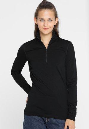 HALF ZIP - Long sleeved top - black