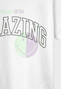 LMTD - T-shirt print - bright white - 4
