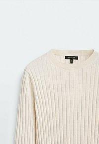 Massimo Dutti - Stickad tröja - beige - 2