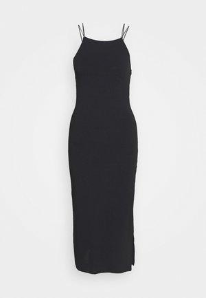 SLIT MIDI - Vestido ligero - black