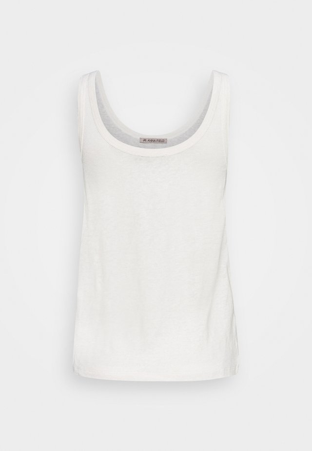 TOP-LINEN BLEND - Débardeur - off-white