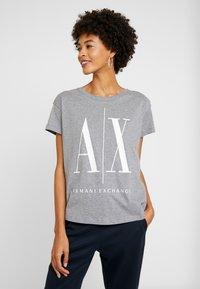 Armani Exchange - Print T-shirt - grey - 0