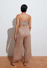 OYSHO - Trousers - brown - 3