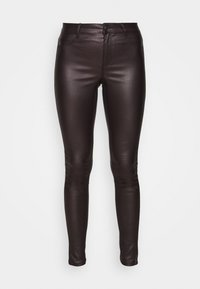 Dorothy Perkins - COATED FRANKIE - Trousers - berry - 3