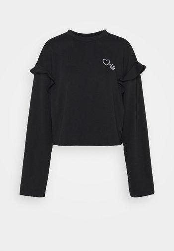 CREW NECK - Maglietta a manica lunga - black