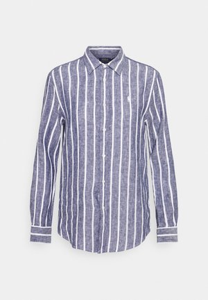 STRIPE LONG SLEEVE - Camisa - navy/white