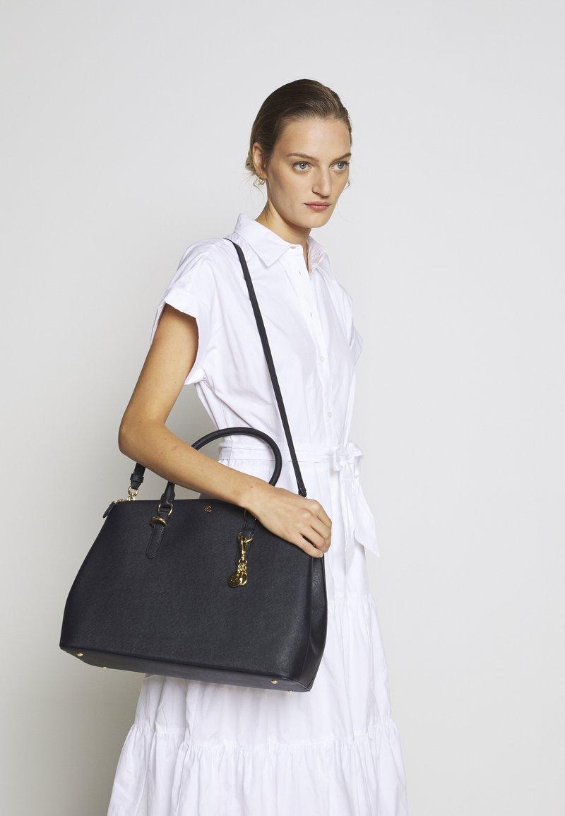 Lauren Ralph Lauren - SATCHEL LARGE SAFFIANO - Handbag - navy